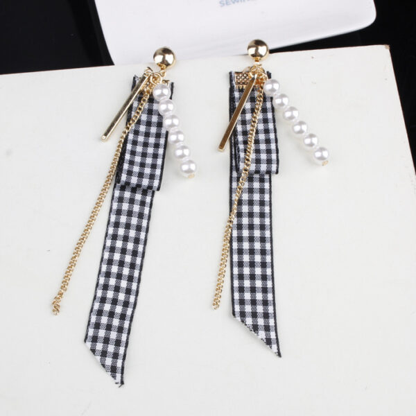 Checkered Fabric Earrings