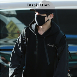 Jungkook Airport Fashion Black Hoodie