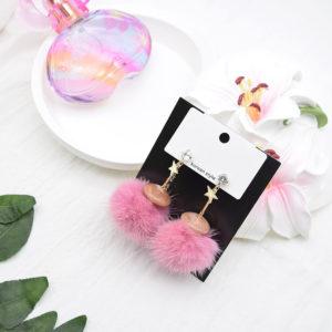 Blackpink Jisoos Outfit Plushy Pink Earrings