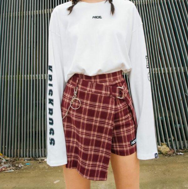 Checkered Skorts | Ahn Ji Young | Bolbbalgan4