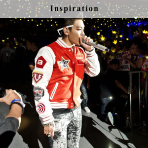 G-Dragon Outfit College Jacket with Badges