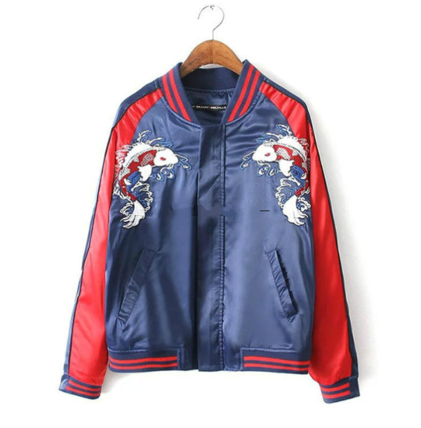 Fancy Jacket With Karp Embroidery