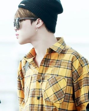 Green/Yellow Checkered Shirt | Jimin – BTS