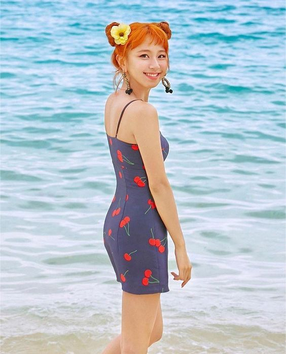 Blue Cherry Dress | Chaeyoung – Twice