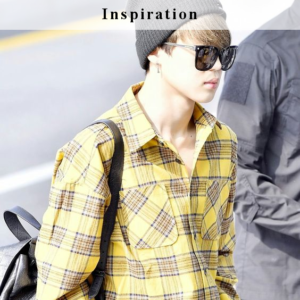 BTS inspired Outfits - Jimin Yellow Checkerd Shirt