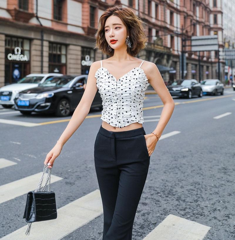 Short Top With Dots Lisa Blackpink K Fashion At Fashionchingu