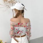 Transparent Short Flower Shirt | Solar – Mamamoo