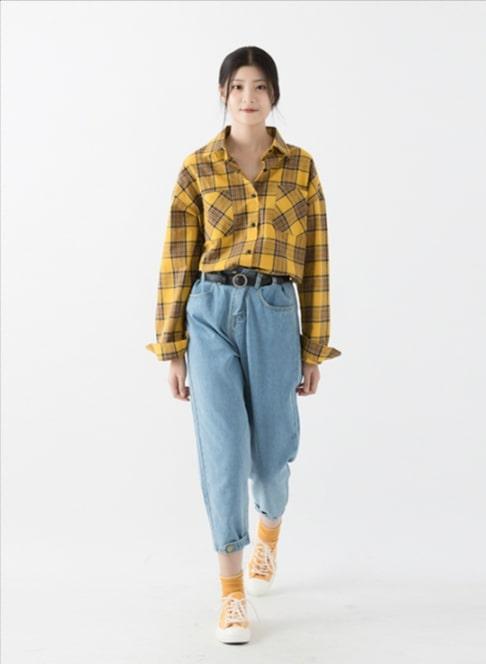 Green/Yellow Checkered Shirt   Jimin – BTS