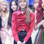 Red Shirring Ribbon Blouse | Lisa – Blackpink