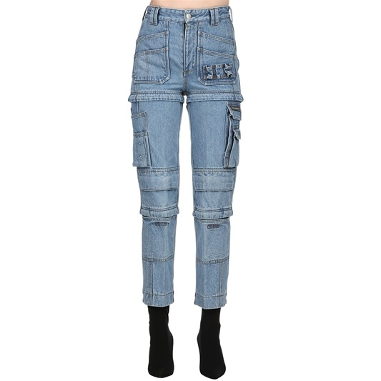 Blue Designer Boyfriend Jeans Lisa Blackpink K Fashion At
