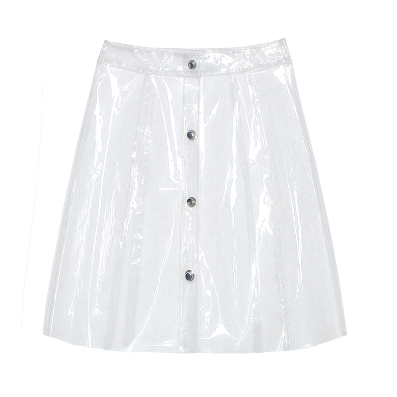 GIDLE Soyeons transparent plastic Skirt in the HANN MV