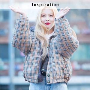 Checkered Bomber Jacket | Hyuna – Triple H