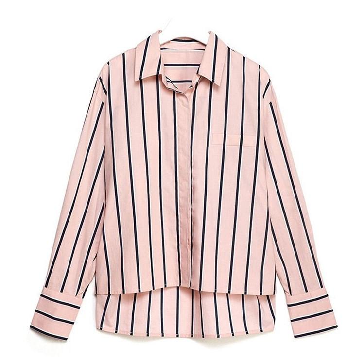 Striped Pink Shirt  Kang Mi Rae - My ID is Gangnam Beauty