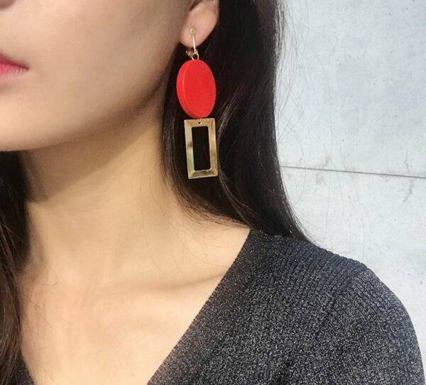 Circle Square Earrings | Wendy – Red Velvet