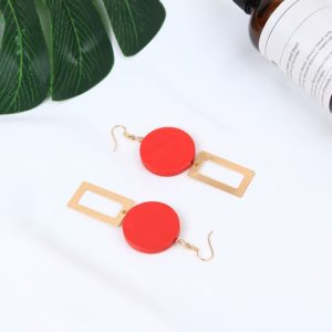 Circle Square Earrings | Wendy – Red Velvet