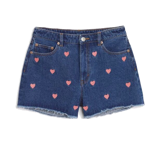Red Velvet Wendys Heart Shorts in Power Up