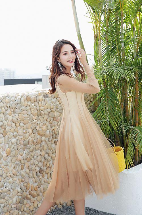 Chic Apricot Dress | Mina – Twice