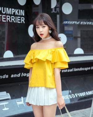 Yellow Bardot Top | Seulgi – Red Velvet