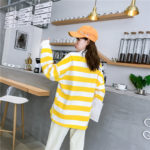 Yellow White Striped Sweater | Kim Bok Joo – Weightlifting Fairy Kim Bok Joo