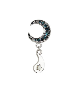 Taehyung crescent Moon Earrings from the Naver Photo Shooting