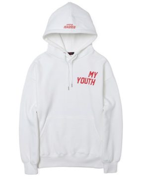 Weight Lifting Fairy Kim Bok Joo white Hoodie 'My Youth' – Kopie