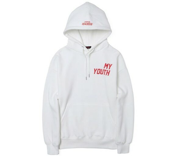 White 'My Youth' Hoodie | Kim Bok Joo – Weightlifting Fairy Kim Bok Joo