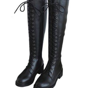 BlackPink Jisoo Lotte Duty free concert festival lace boots