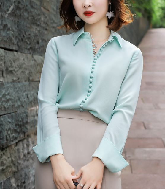 Blue Silk Blouse | Kim Mi So