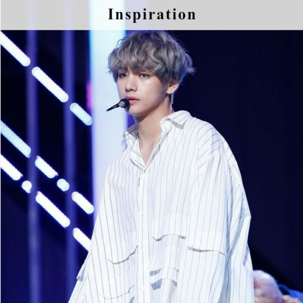 Striped Blouse with Bags | Taehyung – BTS