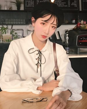White Blouse with Lace – Jimin BTS Clothing