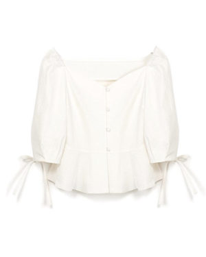 White Top Blouse of Kim Mi Soo