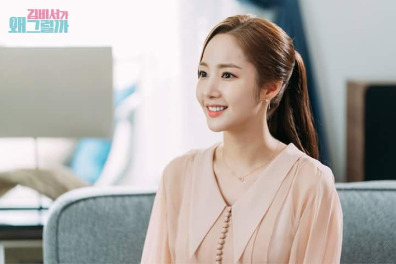Secretary Kim Fashion Pink blouse with buttons
