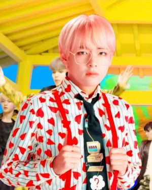 Striped Heart Blouse | Taehyung – BTS
