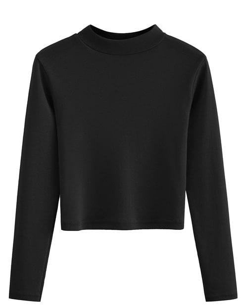 Black Crop Top with Long Sleeves | Lisa – Blackpink