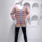 Multicolored Checkered Cardigan | Hyuna