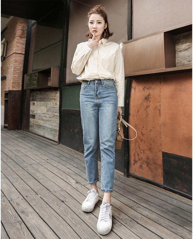Straight High Waist Jeans Lisa Blackpink K Fashion At
