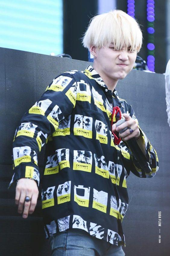 Yellow Black Shirt | Suga - BTS | K-Fashion at Fashionchingu