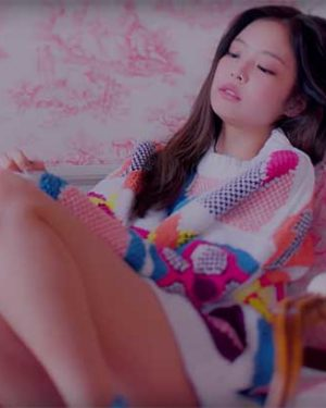 Patterned Wool Sweater| Jennie – Blackpink