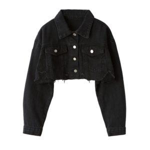 Jennie-Short-Black-Jeans-Jacket-Solo-MV