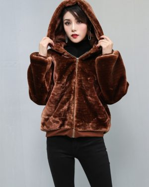 Jimin brown fur Jacket
