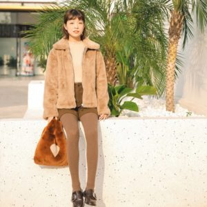 Lisa Airport Fashion – Brown Jacket