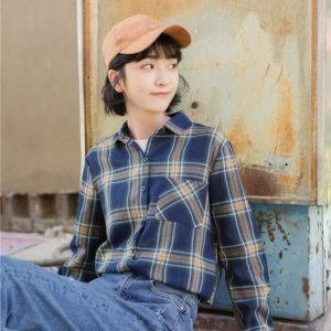 Blue Checkered Blouse | Jung Hee Joo – Memories of the Alhambra