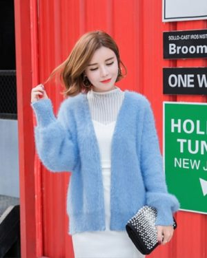 Fluffy Blue Cardigan