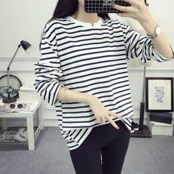 Striped White Black Shirt | Jimin – BTS