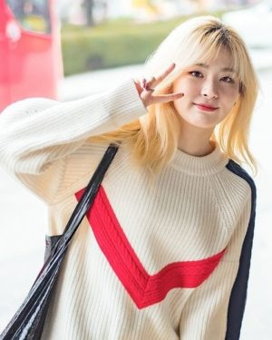 Red White Pullover | Seulgi – Red Velvet