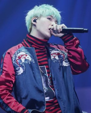 Red Striped Sweater | Suga – BTS