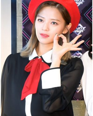 Chic Black Blouse | Jeongyeon – Twice