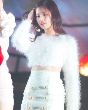 Fluffy Long Sleeved Crop Top | Sana – Twice