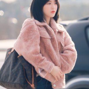 Fluffy Pink Jacket | Wendy – Red Velvet