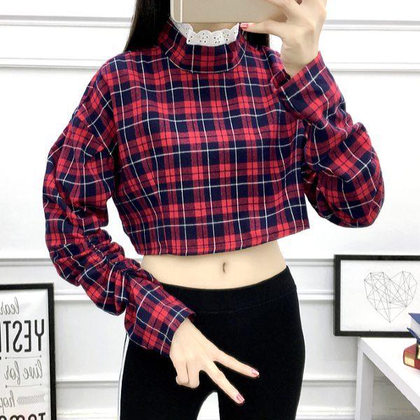 Red Plaid Shirt | Lisa – BlackPink